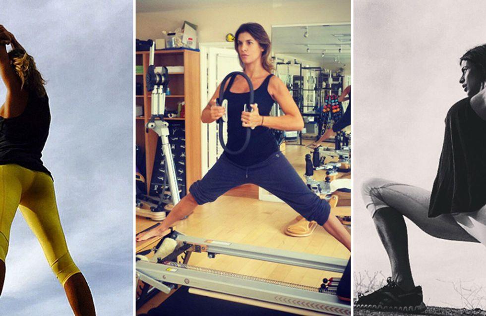 La Canalis si tiene in forma anche in dolce attesa. Le foto di Elisabetta alle prese con lo sport!