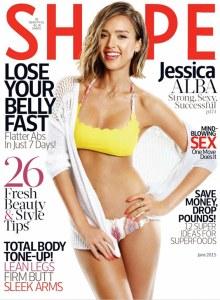 Jessica Alba pour Shape.