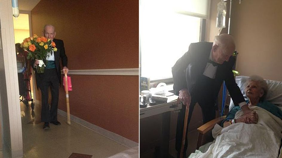 Sooo romantisch: Dieser Ehemann sorgt trotz Krankenhaus für einen unvergesslichen 57. Hochzeitstag