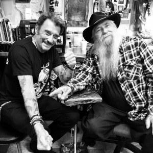 Johnny Hallyday et Rick Walters