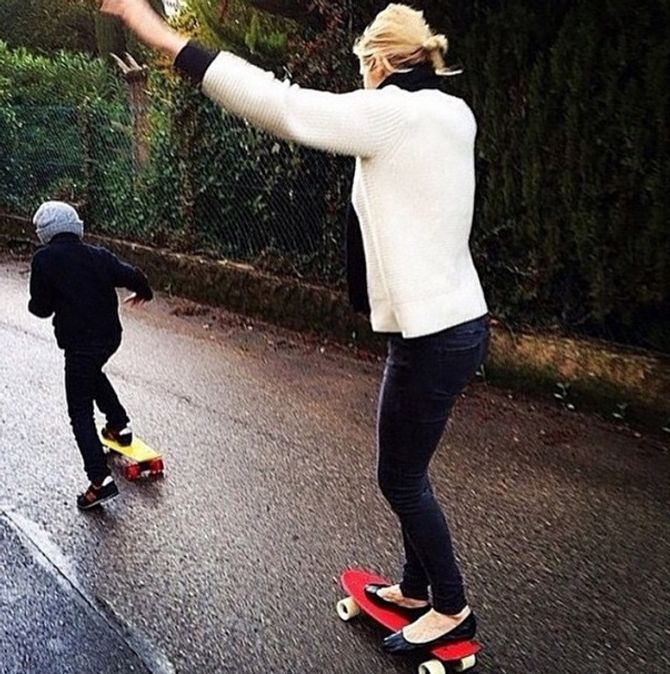 Kelly Rutherford et son fils