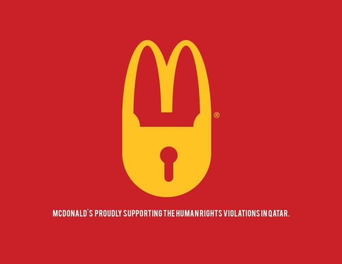 Logo McDonald détourné pour le Mondial 2022