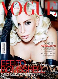 Kim Kardashian en couverture de Vogue Brésil