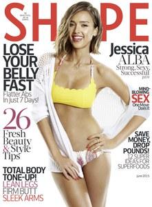 Jessica Alba en couverture de Shape Magazine