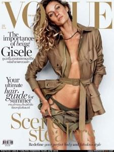 Gisele Bündchen en couverture du Vogue Thaïlande