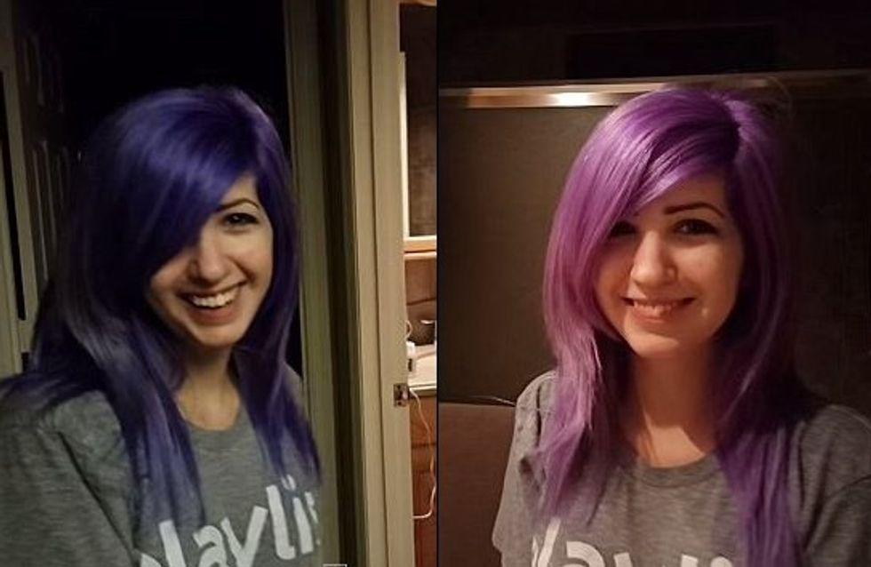 Le mystère de « la robe » version capillaire : les cheveux de cette fille passent du violet au rose ! (Photos)