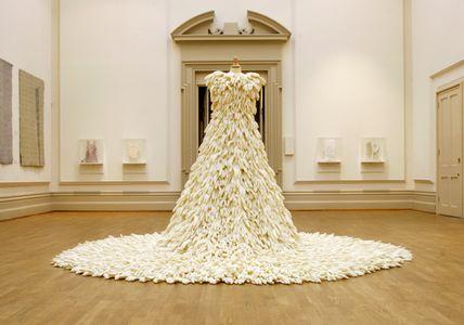 Vestido de novia de guantes de plástico