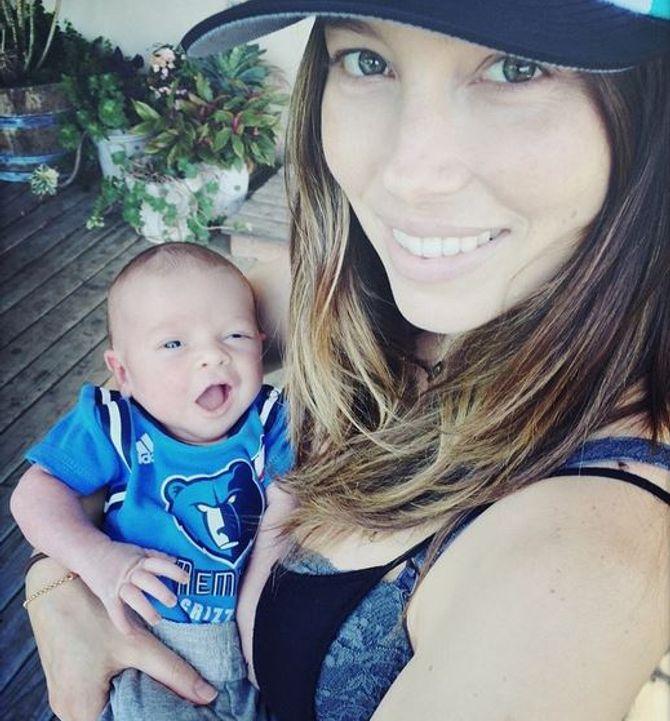 Jessica Biel et son fils Silas