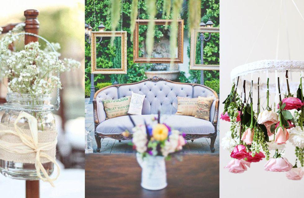 21 ideias de décor DIY simples e fofas para sua festa de casamento