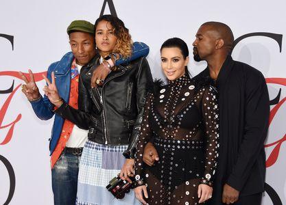 Pharrell Williams, Helen, Kim Kardashian, Kanye West