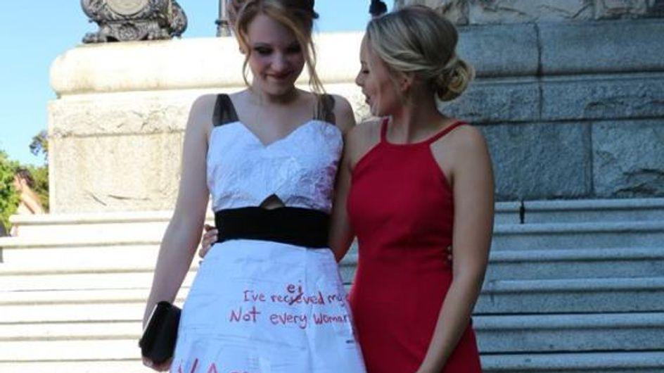Erinne, 18 ans, profite de son bal de promo pour défendre les droits des femmes