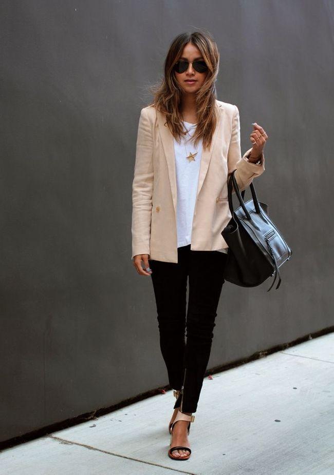 online store 998b7 465d7 Blazer Styling-Tipps  Elegant mit Skinny und Sandaletten
