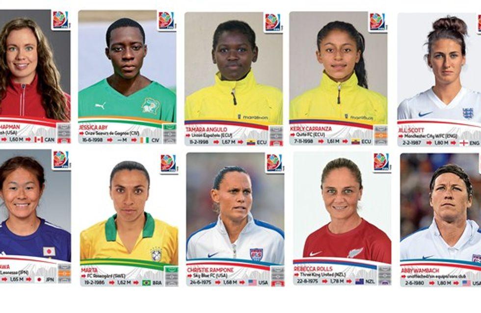 Les footballeuses de la Coupe du Monde enfin mises à l'honneur par Panini