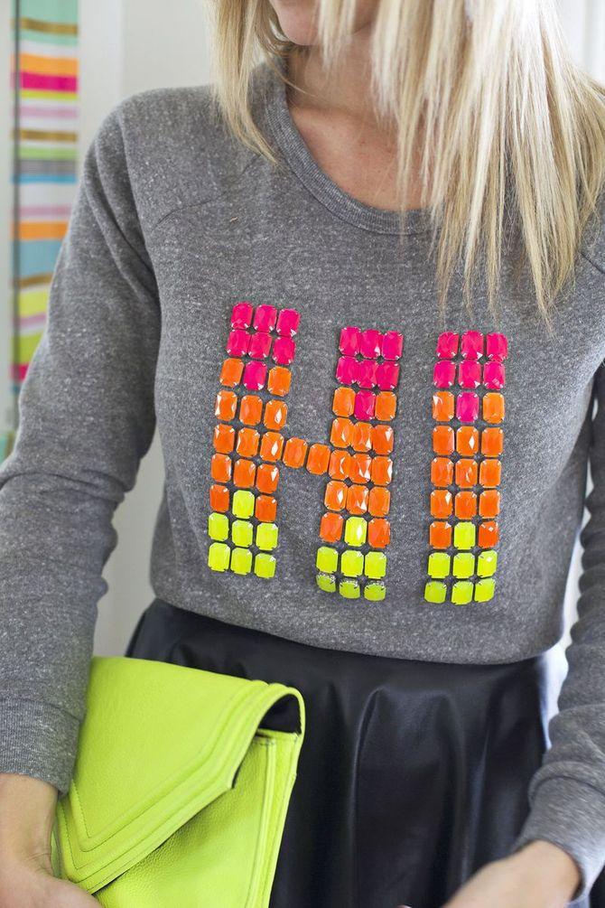 Upcycling-Ideen für Kleidung mit Schmucksteinen