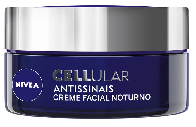 Cellular Antissinais Creme Facial Noturno, Nivea, R$ 66