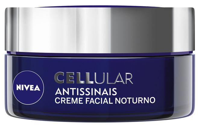 Cellular Antissinais Creme Facial Noturno, Nivea, R$ 66