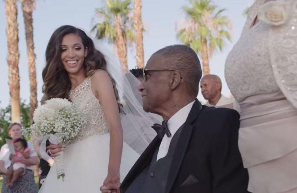 Der emotionale Moment, in dem ein todkranker Vater seine Tochter bei ihrer Hochzeit überrascht