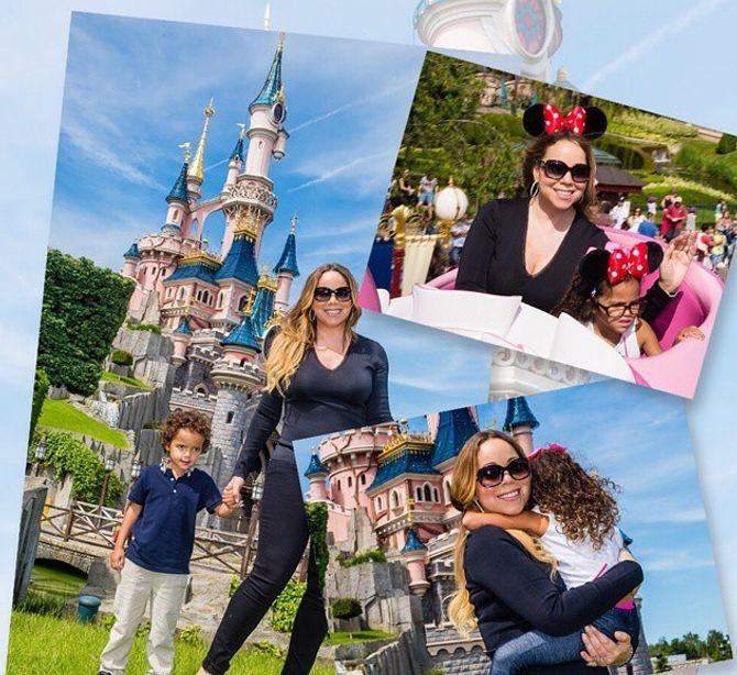 Mariah Carey et ses enfants à Disneyland Paris