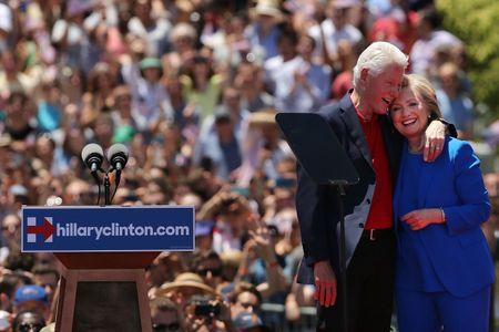 Hillary Clinton et Bill Clinton le 13 juin