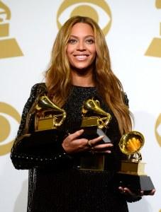 Beyoncé aux Grammy Awards.
