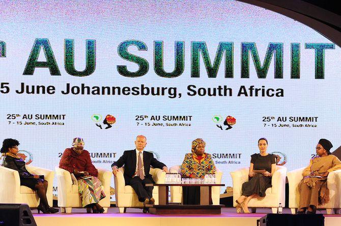 Angelina Jolie à Johannesburg