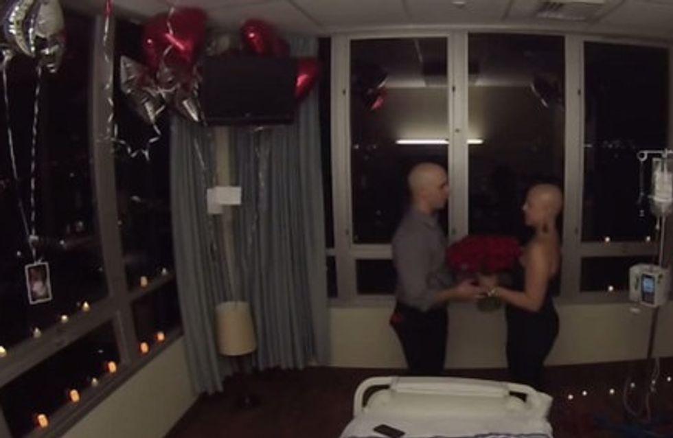 Il réserve une belle surprise à sa petite-amie après sa dernière séance de chimiothérapie (Vidéo)