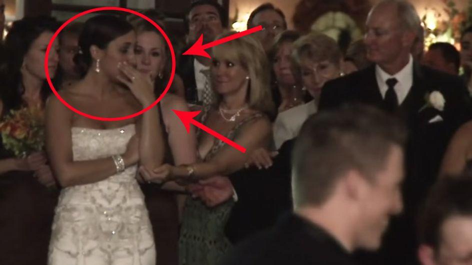 Als er auf seiner Hochzeitsfeier eine andere Frau küsst, kann die Braut ihre Tränen nicht mehr zurück halten