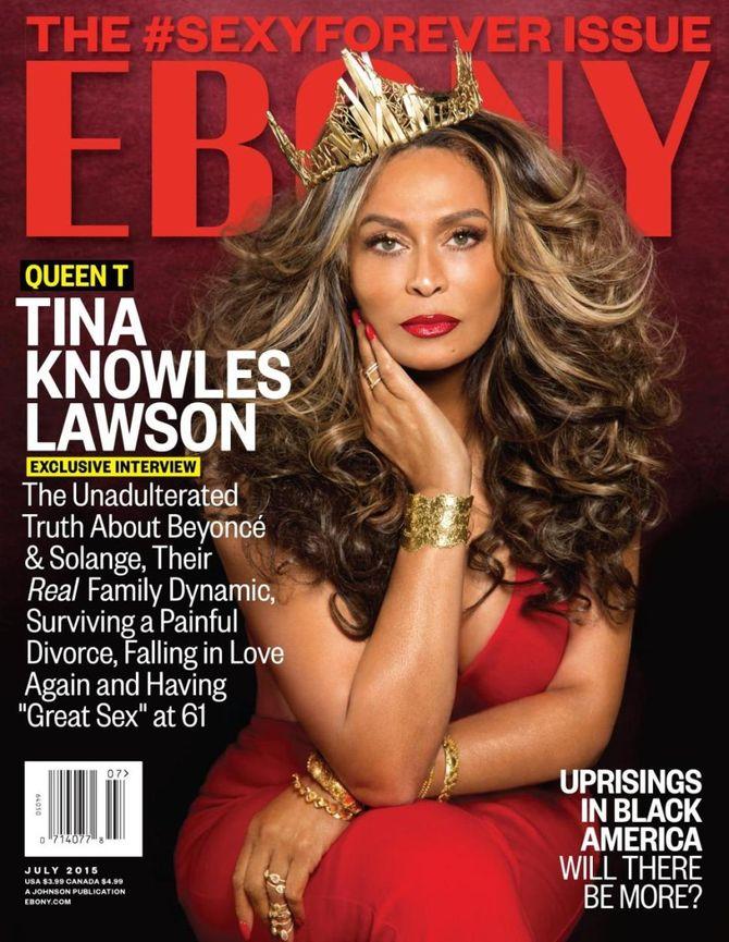 Tina Knowles en Une de Ebony.