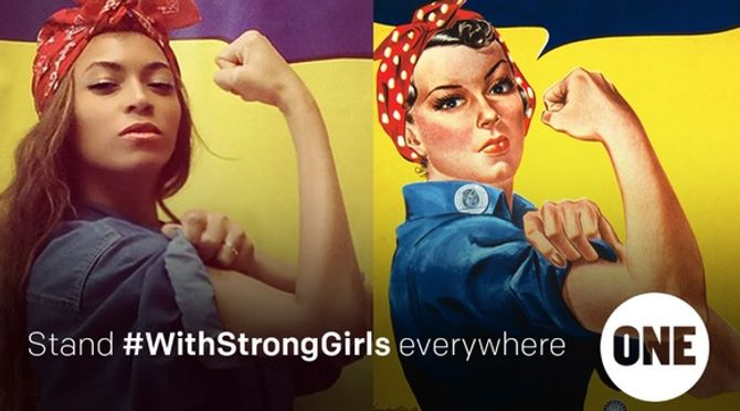 Beyonce soutient #WithStrongGirls