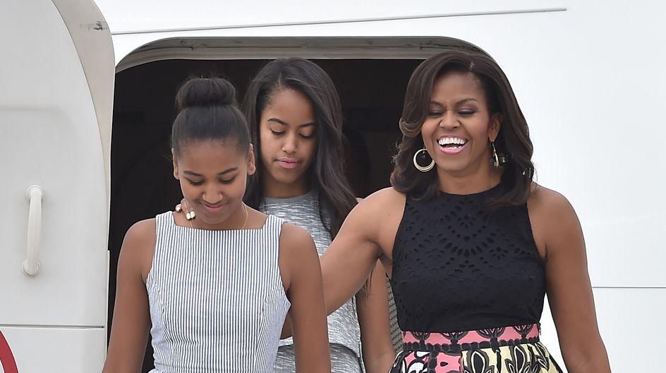 Michelle Obama et ses filles en tournée européenne ultra stylée (Photos)