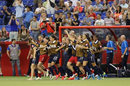 L'équipe de France féminine de football bat la Corée du Sud, le 21 juin 2015 à Montréal