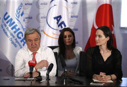 Antonio Guterres et Angelina Jolie.