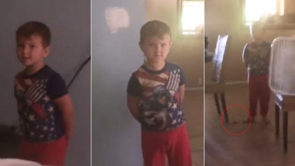 Dieser 3-Jährige wird von Mama beim Schoko-Diebstahl erwischt. Seine Reaktion ist zum Brüllen!