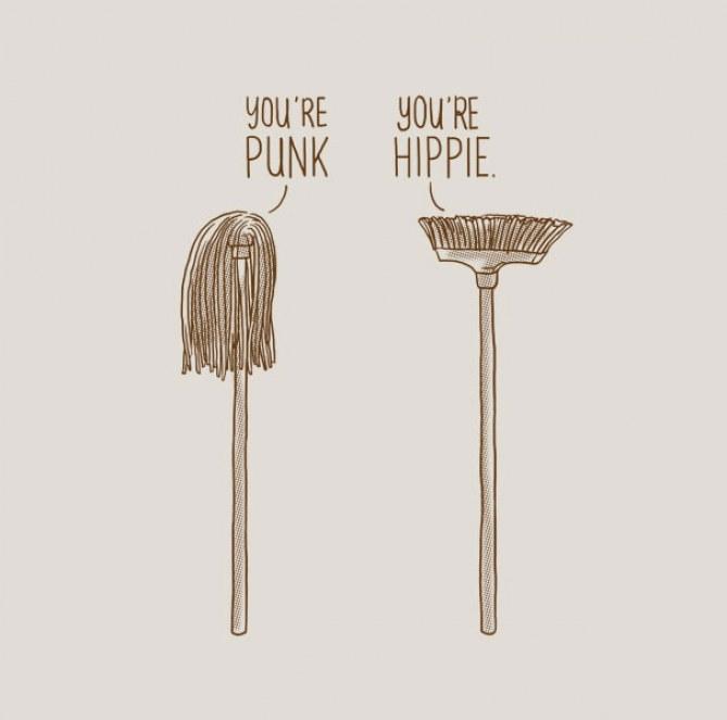 """""""Você é um punk"""" """"E você é hippie"""""""