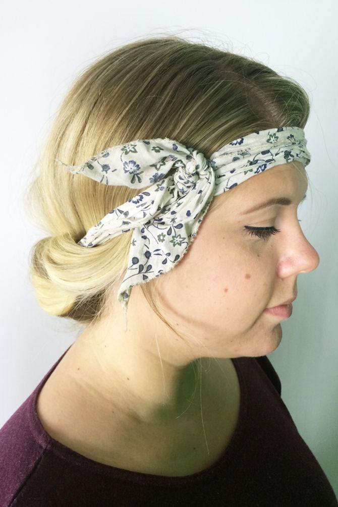 Bandana binden für lange Haare - Frische Sommerfrisuren