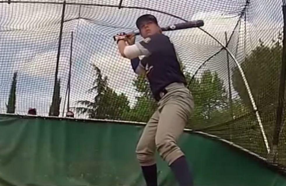 A seulement 16 ans, la Française Melissa Mayeux marque l'histoire du baseball aux Etats-Unis