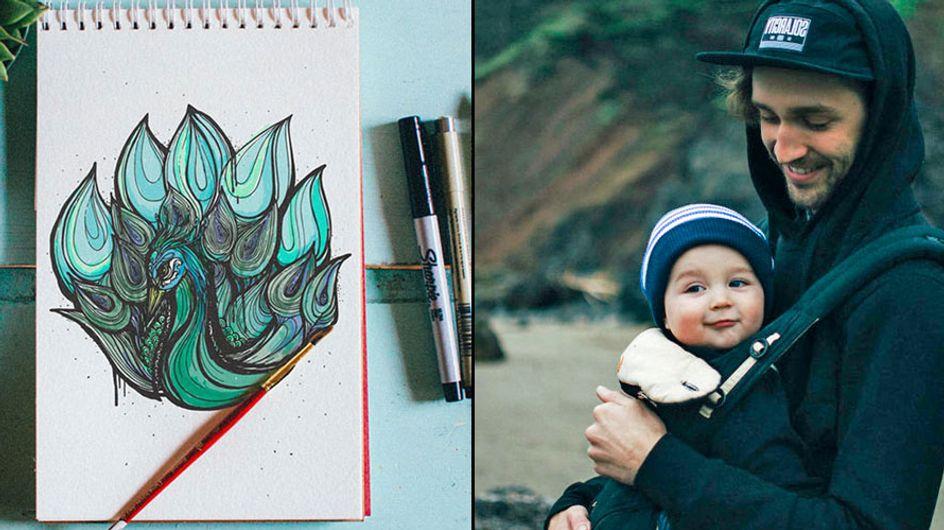 Este ilustrador enseña el abecedario a su hijo de una manera muy original