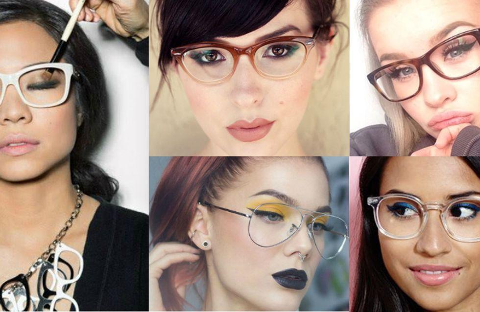Make para quem usa óculos? Vem que tem!