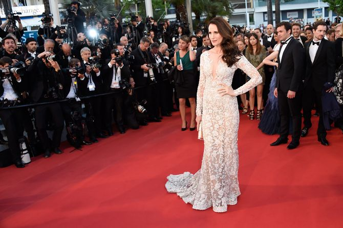 Andie MacDowell au festival de Cannes.