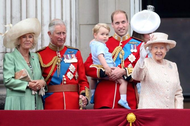 La famille royale britannique pour l'anniversaire de la Reine Elizabeth II