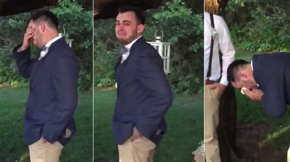Rührende Reaktion: Als dieser Bräutigam seine Braut sieht, geht es völlig mit ihm durch