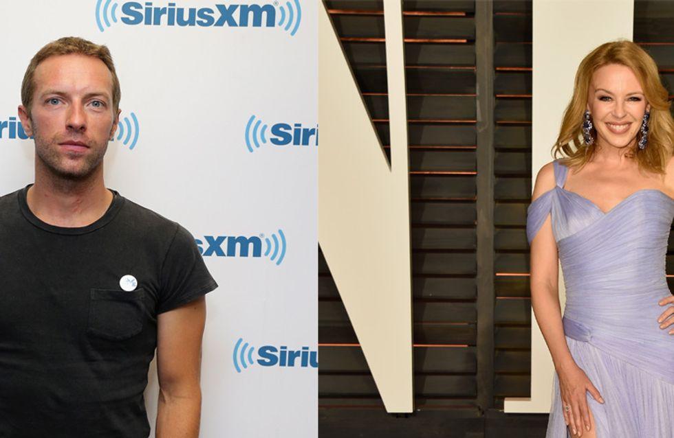 Chris Martin et Kylie Minogue, juste amis ? (Photos)
