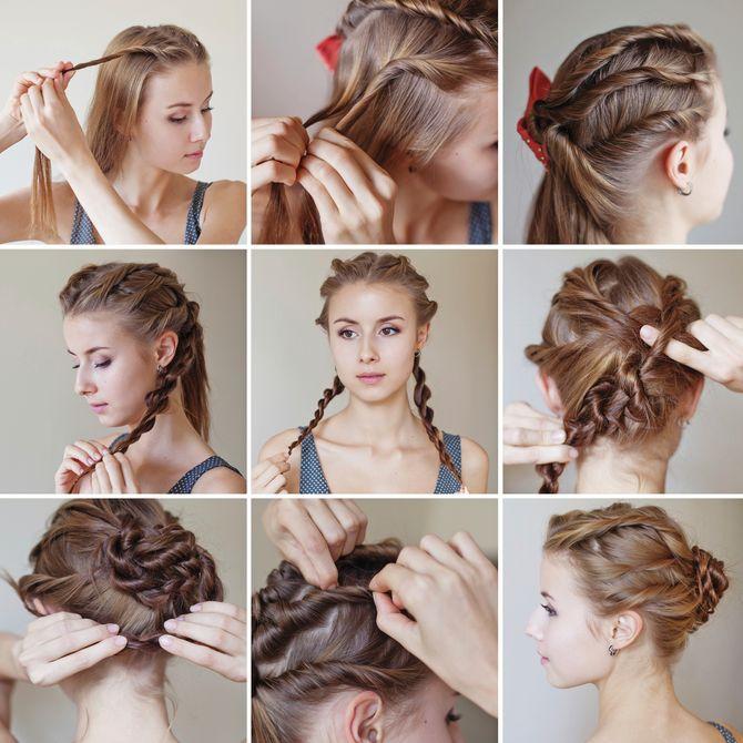 Bricolage coiffure de mariage simple Г©tape par Г©tape