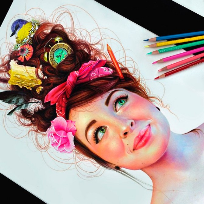 Ilustrações hiper-realistas
