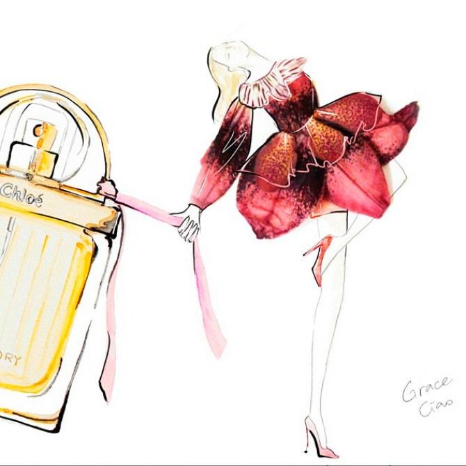Ilustrações com flores