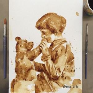 Ilustrações com café