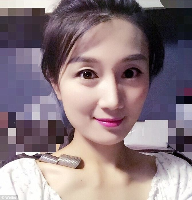 Lv Jiarong qui a lancé le #CollarboneChallenge