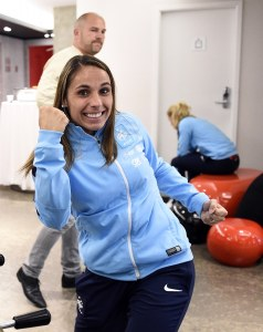 Jessica Houara, joueuse de l'équipe de France de foot féminin