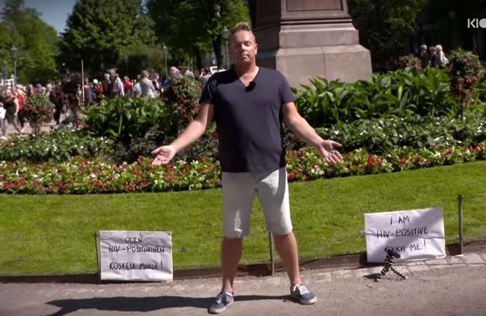 """""""J'ai le VIH, touchez-moi"""", le défi d'un séropositif pour lutter contre les préjugés"""