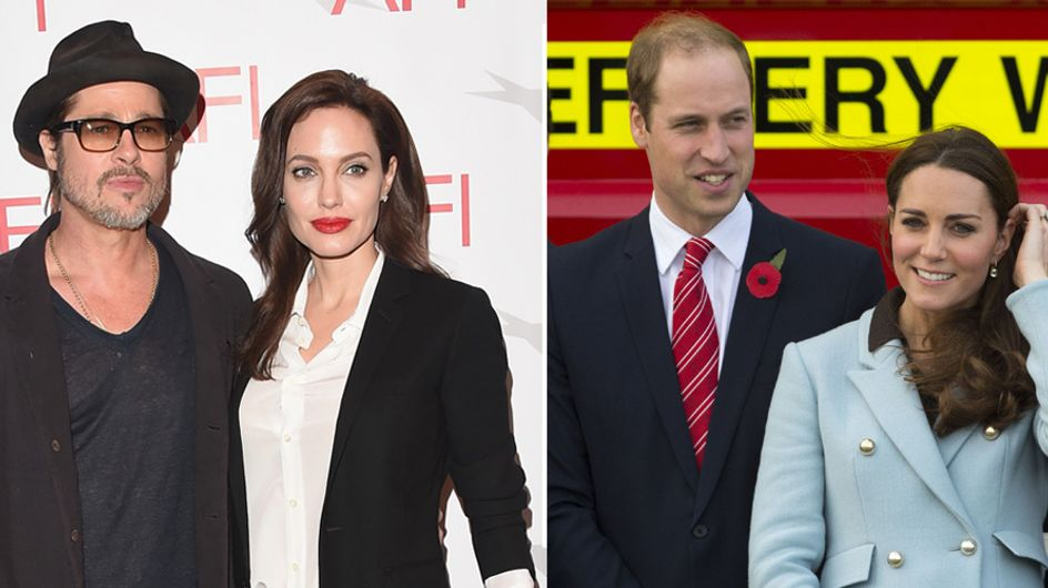 Brad Pitt et Angelina Jolie ont rencontré Kate Middleton et le prince William